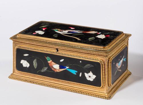 Late 19th Century Italian Pietra Dura Casket (1 of 5)