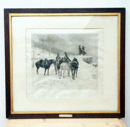 The Generals in the Snow by Jle Meissonier  Framed Print (1 of 13)