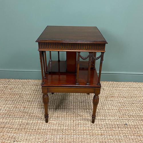 Sheraton Design Edwardian Mahogany Antique Revolving Bookcase (1 of 6)