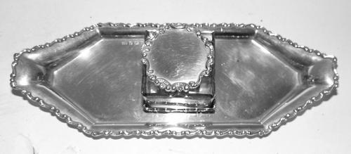 Edwardian Solid Silver Inkstand (1 of 6)