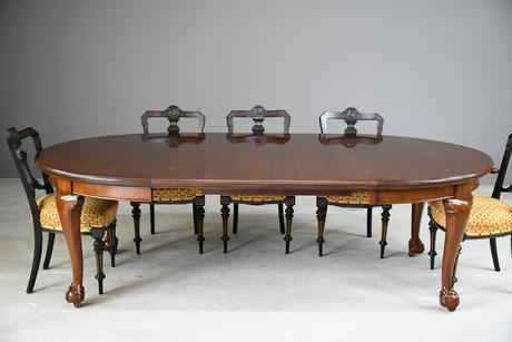 Antique Oval Mahogany Extending Dining Table (1 of 13)