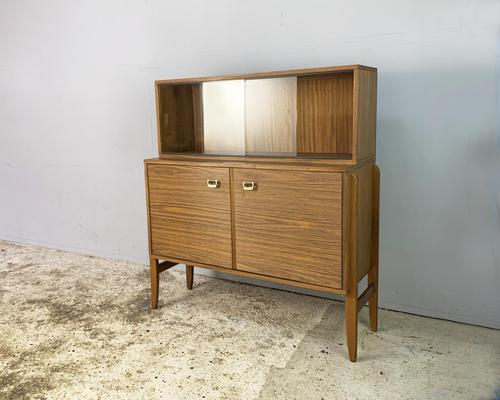 1960's English Mid Century Vintage Tall Sideboard (1 of 5)