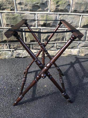 Antique Oak Butlers Tray Stand (1 of 5)