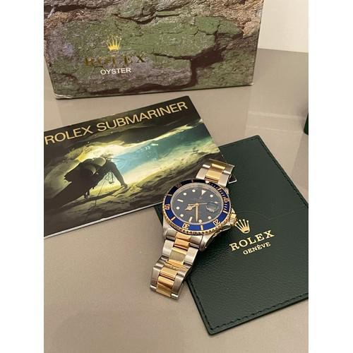 18ct Yellow Gold & Steel Rolex Submariner Blue Dial (1 of 6)