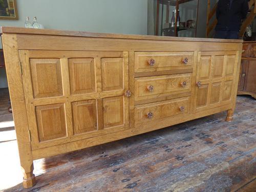 """Large Oak """"Foxman"""" Sideboard (1 of 11)"""