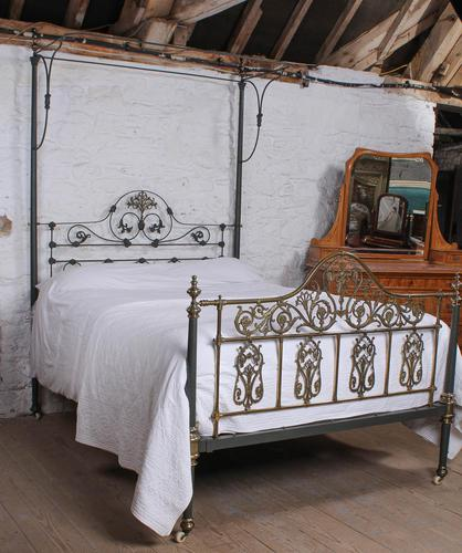Beautiful Victorian King Size Half Tester Bed by Winfield (1 of 12)