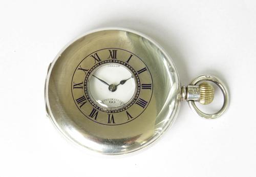 1933 Cyma Silver Half Hunter Pocket Watch for J W Benson (1 of 5)