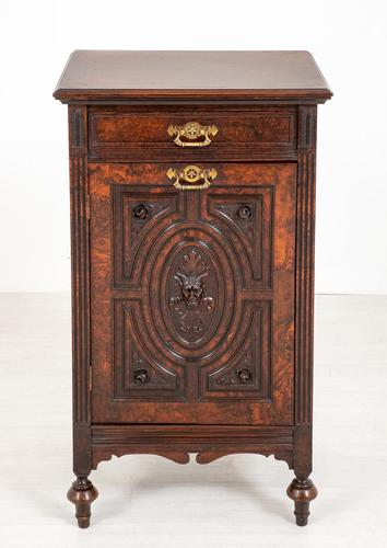 Good Quality Carved Walnut Cabinet (1 of 8)