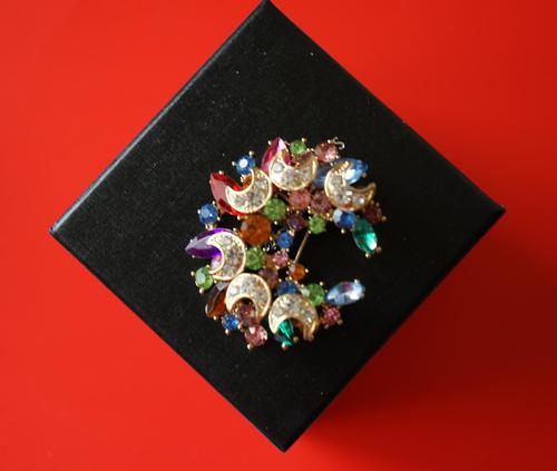 Superb Large Vintage Brilliant & Marquis Rhinestone Sparkling Brooch - Pin / Ideal Gift / Birthday Present (1 of 7)