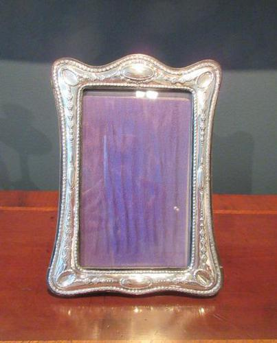 George V Period Silver Shaped Photo Frame (1 of 6)