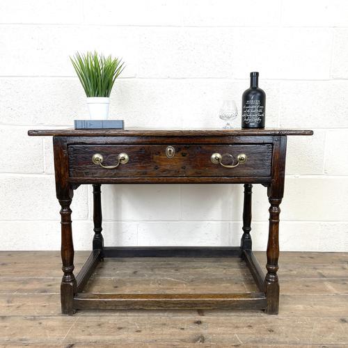 Antique Georgian Oak Side Table (1 of 10)