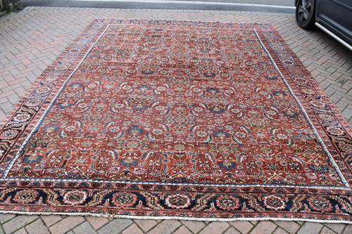 Antique Heriz square carpet 383x311cm (1 of 9)