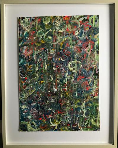 Original oil on board 'Revolutions' by Terence Howe c.1980 (1 of 2)