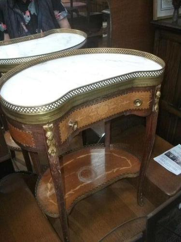Onyx and Galleried Top Side Table (1 of 2)