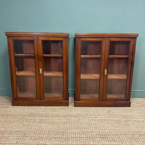 Pair of Victorian Walnut Antique Bookcases (1 of 7)
