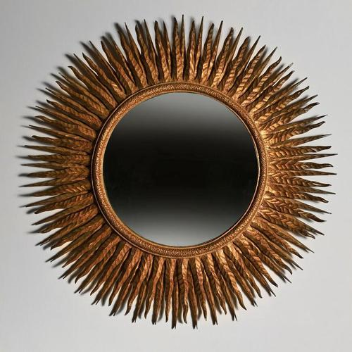 Superb Large Mid 20th Century French Giltwood Sunburst Mirror (1 of 4)