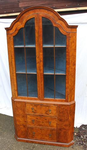 1960s Mahogany Dome Topped Corner Cabinet on Stand (1 of 4)