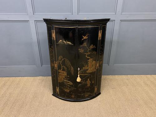 19th Century Chinoiserie Corner Cupboard (1 of 6)