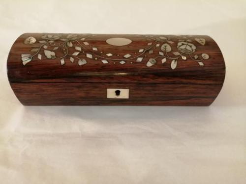 19th Century Rosewood & Mother of Pearl Pin Box (1 of 5)