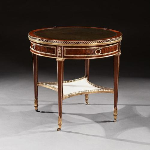 Exceptional Gervais Durand 19th Century Mahogany & Gilt Bronze Gueridon Bouillotte Table (1 of 17)