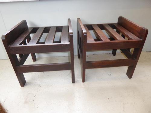 Pair of Oak Luggage Racks (1 of 7)