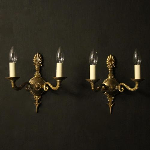 French Pair of Empire Antique Wall Lights (1 of 9)