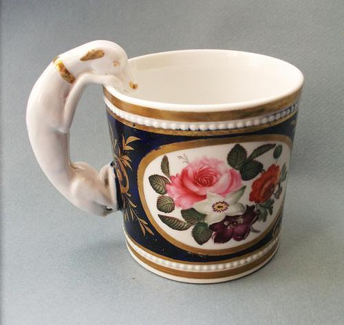 Fine Staffordshire Mug with Greyhound Handle c.1820 (1 of 5)