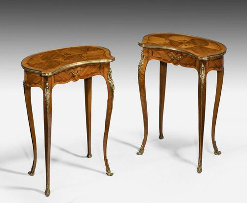 Pair of Late 19th Century Kidney Shaped Occasional Tables (1 of 8)