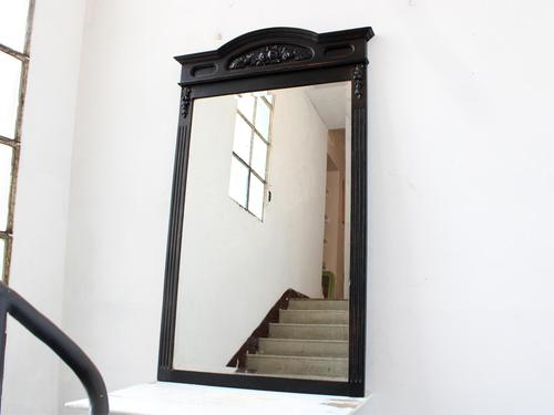 """Late 19th Century French """"Ebonised"""" Overmantel Mirror (1 of 4)"""