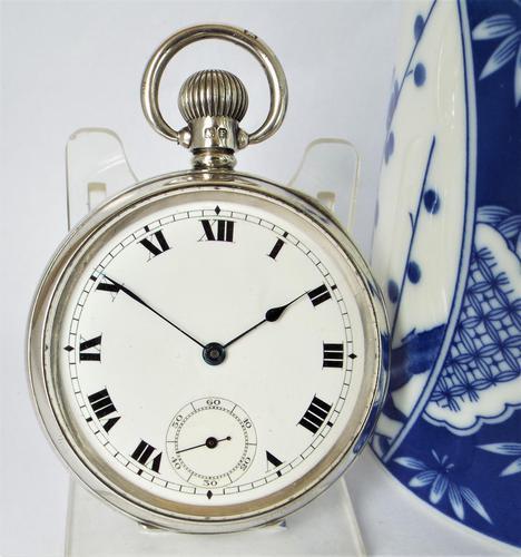1930 Swiss Silver Pocket Watch (1 of 5)