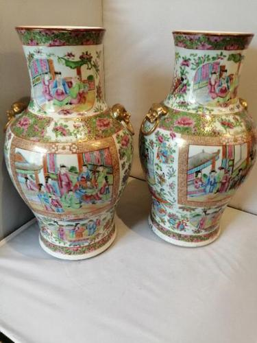 Fine Pair of 19th Century Cantonese Vases (1 of 19)