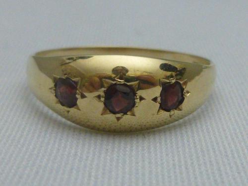 9ct Gold & Garnet Gypsy Ring (1 of 4)