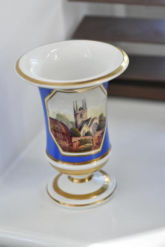 Fine Minton Pedestal vase with delightful painted panel c1815 (1 of 8)