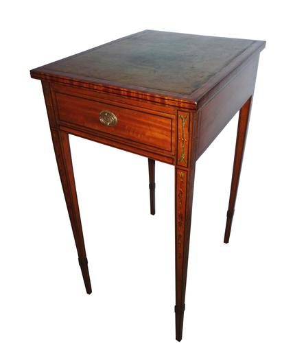 Ladies Small Satinwood Writing Table c 1890 (1 of 3)