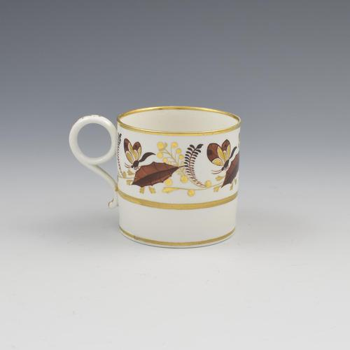 Barr, Flight & Barr Porcelain Coffee Can Holly Leaves & Butterflies c.1807 (1 of 6)