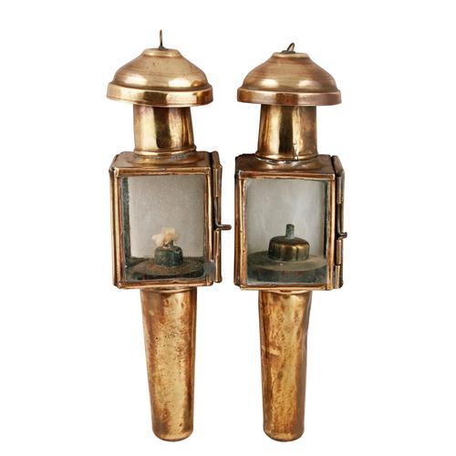 Pair of Miniature Hanging Oil Lamps (1 of 8)