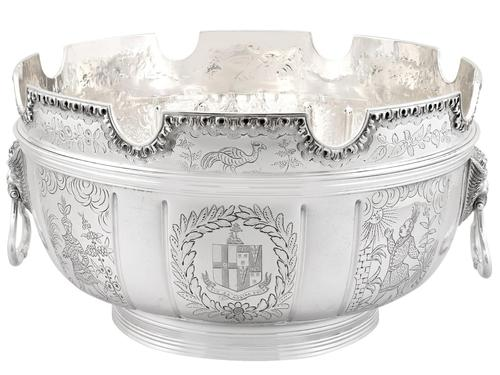 Sterling Silver Monteith Bowl - Antique Edwardian 1905 (1 of 18)