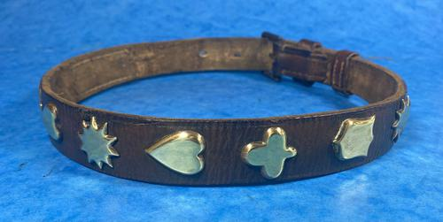 Victorian Brass Mounted Hide Dog Collar (1 of 10)
