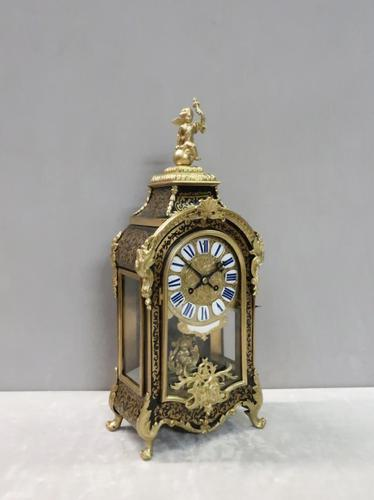 French Louis XIV Style Boulle Mantel Clock by Samuel Marti (1 of 9)