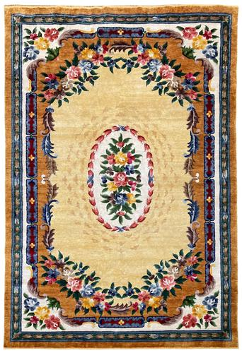 Vintage Chinese Silk Carpet 2.43m x 1.59m (1 of 11)