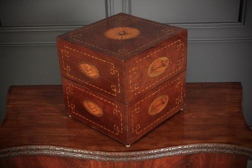Inlaid Mahogany Decanter Box (1 of 15)