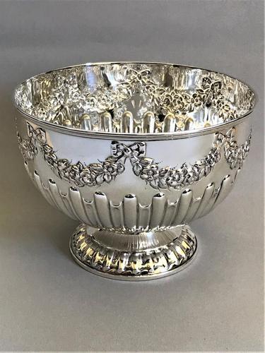 Superb Edwardian Silver Rose Bowl (1 of 6)