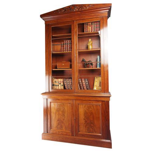 Antique George IV Mahogany 2 Door Cabinet Bookcase (1 of 13)