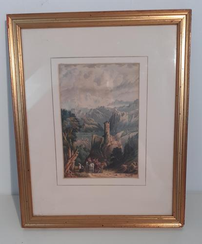 19th Century Watercolour, initialled H.G. (1 of 3)