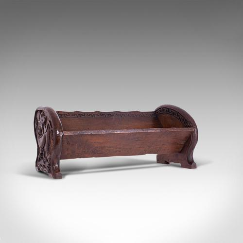 Antique Carved Book Stand, Oriental, Mahogany, Rack, Dragon Motif, 19th Century (1 of 12)