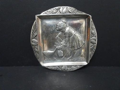 WMF Silvered Pewter Card Tray c.1900 (1 of 6)