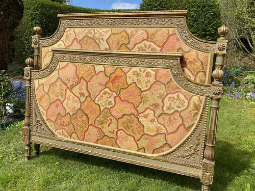 Gilded & Painted French Double Bed (1 of 7)