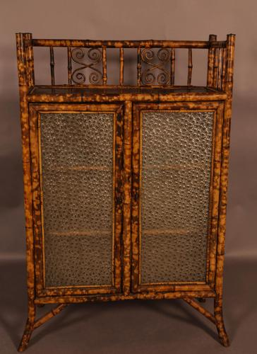 Very Good Victorian Bamboo Cabinet (1 of 1)