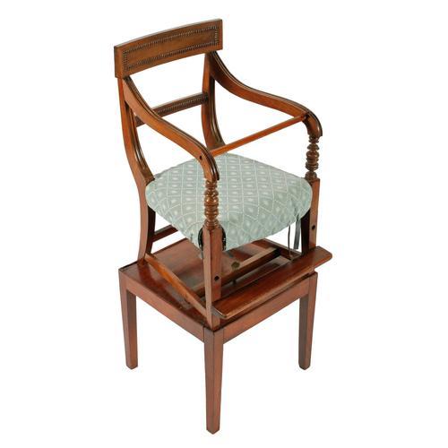 Georgian Mahogany Child's High Chair (1 of 8)