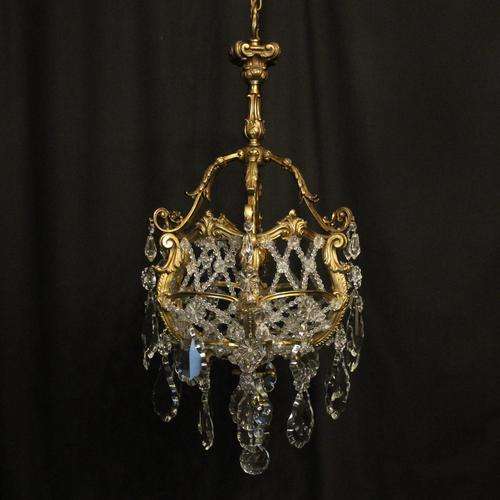 French Gilded Bronze Antique Chandelier (1 of 10)